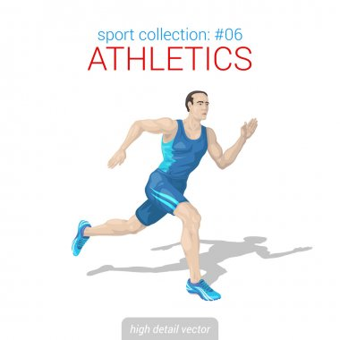 Runner man athlete sprinter.