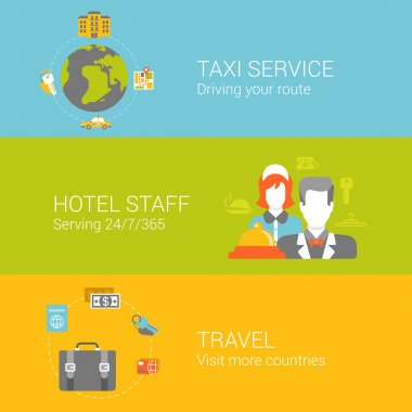 Travel and hotel service concept