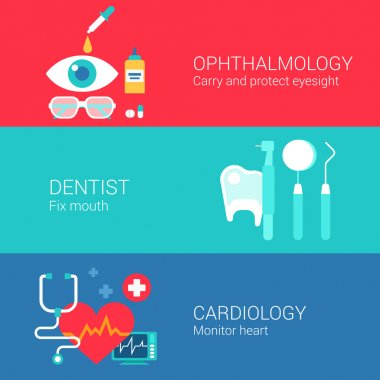 Medical concept flat icons set