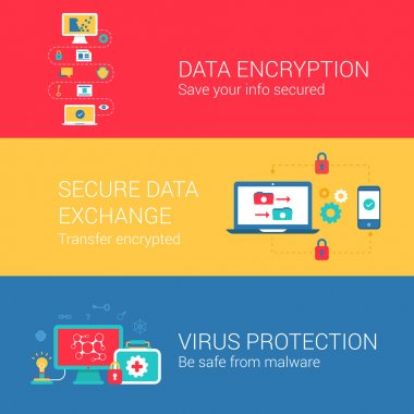 Data security encryption concept