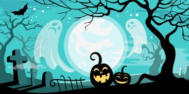 Halloween  illustration concept template