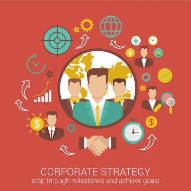 Corporate business strategy  concept.