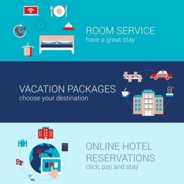 Hotel booking travel business concept