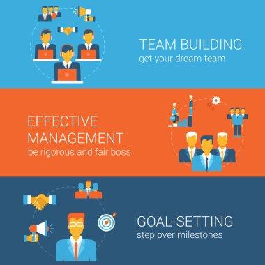 Team goal management concept