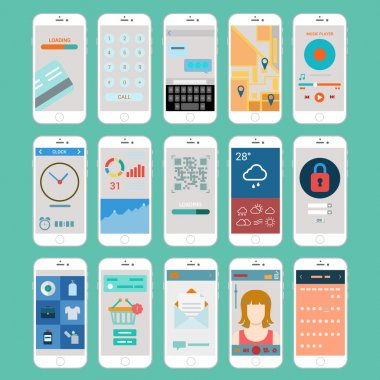 mobile app user interface windows