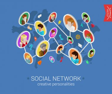 Creative social network concept