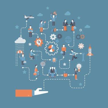 Business start  infographics process