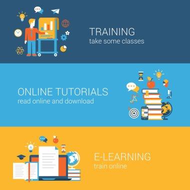 Flat education, training, online tutorial