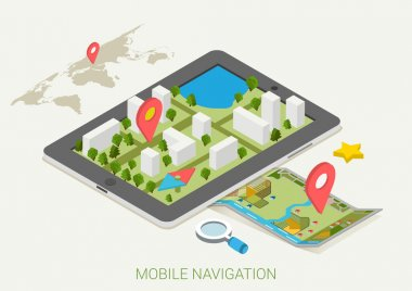 mobile GPS navigation maps