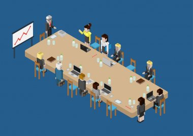 isometric business meeting