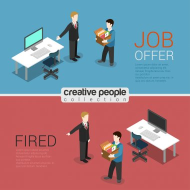 HR job offer and fired dismissal