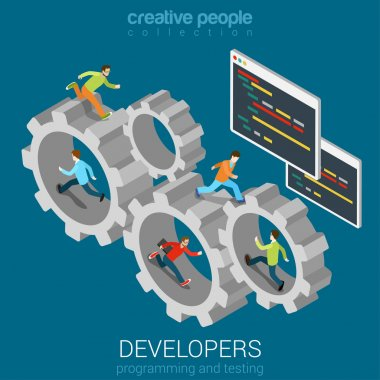 Developers programmer coder teamwork
