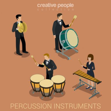 Percussion instrument musicians