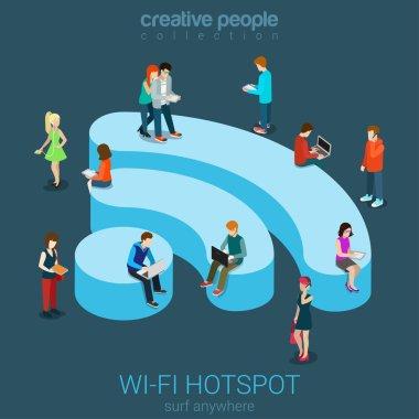 Public free Wi-Fi hotspot zone