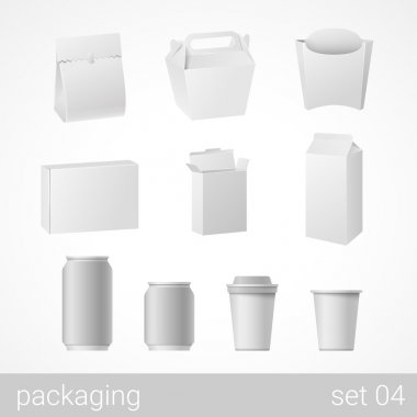 Food and drink  packages set.