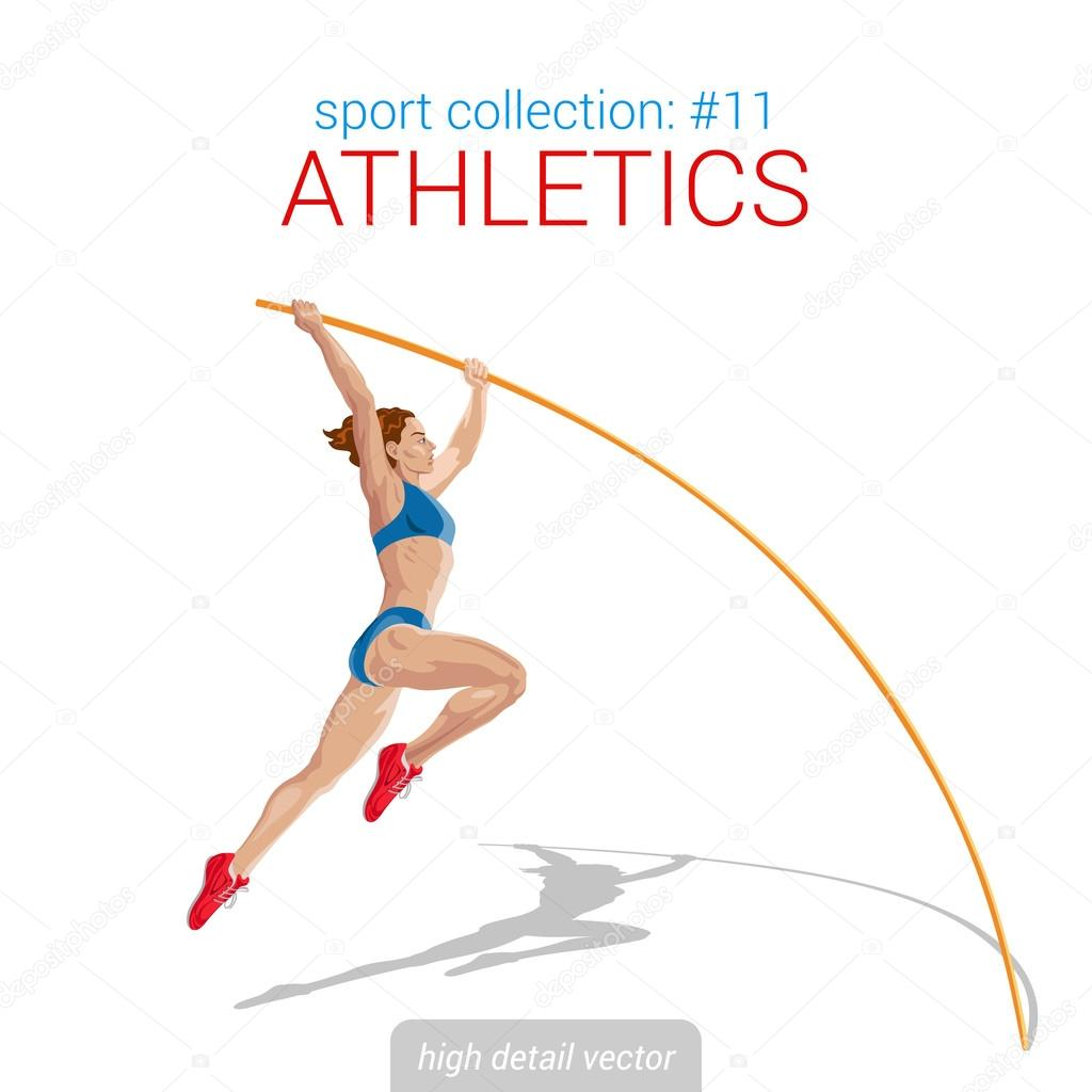 Sportlerin Pol-Sprung — Stockvektor © Sentavio #83130358