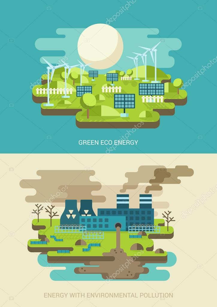 Green energy ecology concept