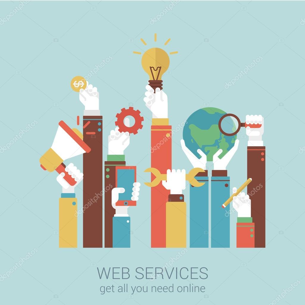Online Internet-Dienste — Stockvektor © Sentavio #83133390