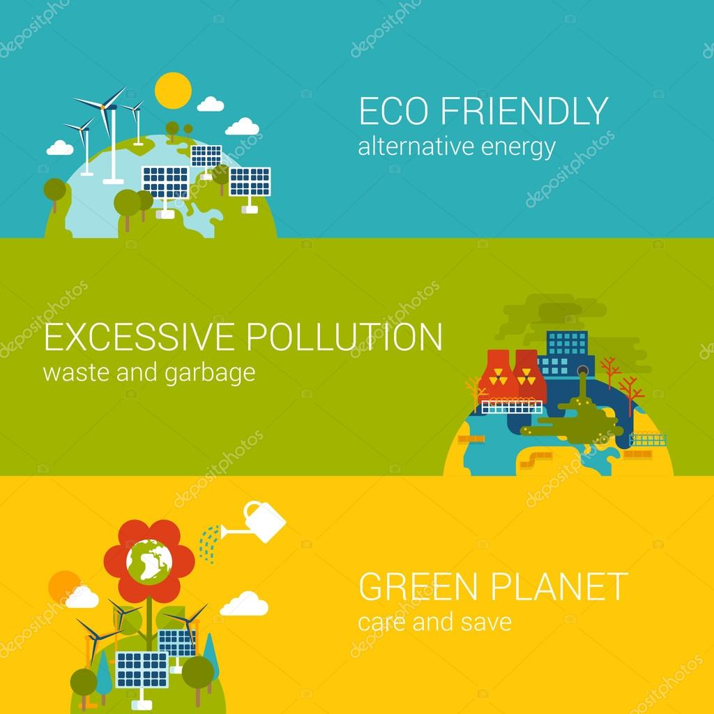 ecology, green planet concept.