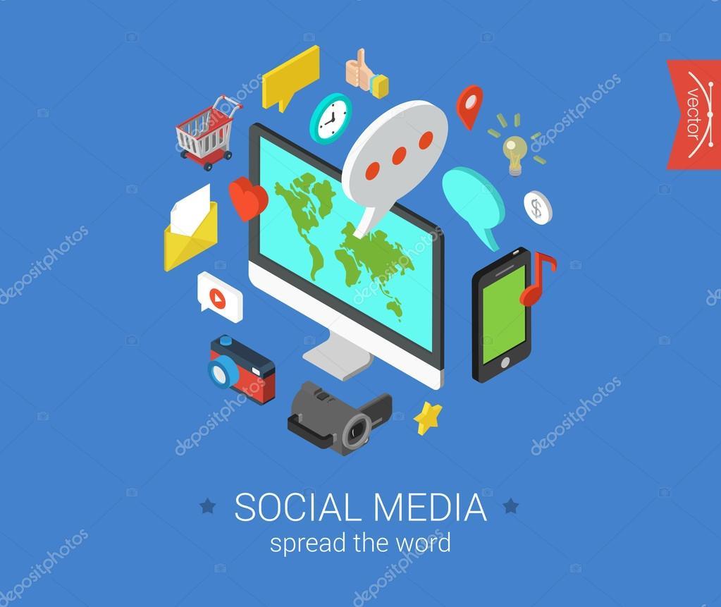 Social media design concept
