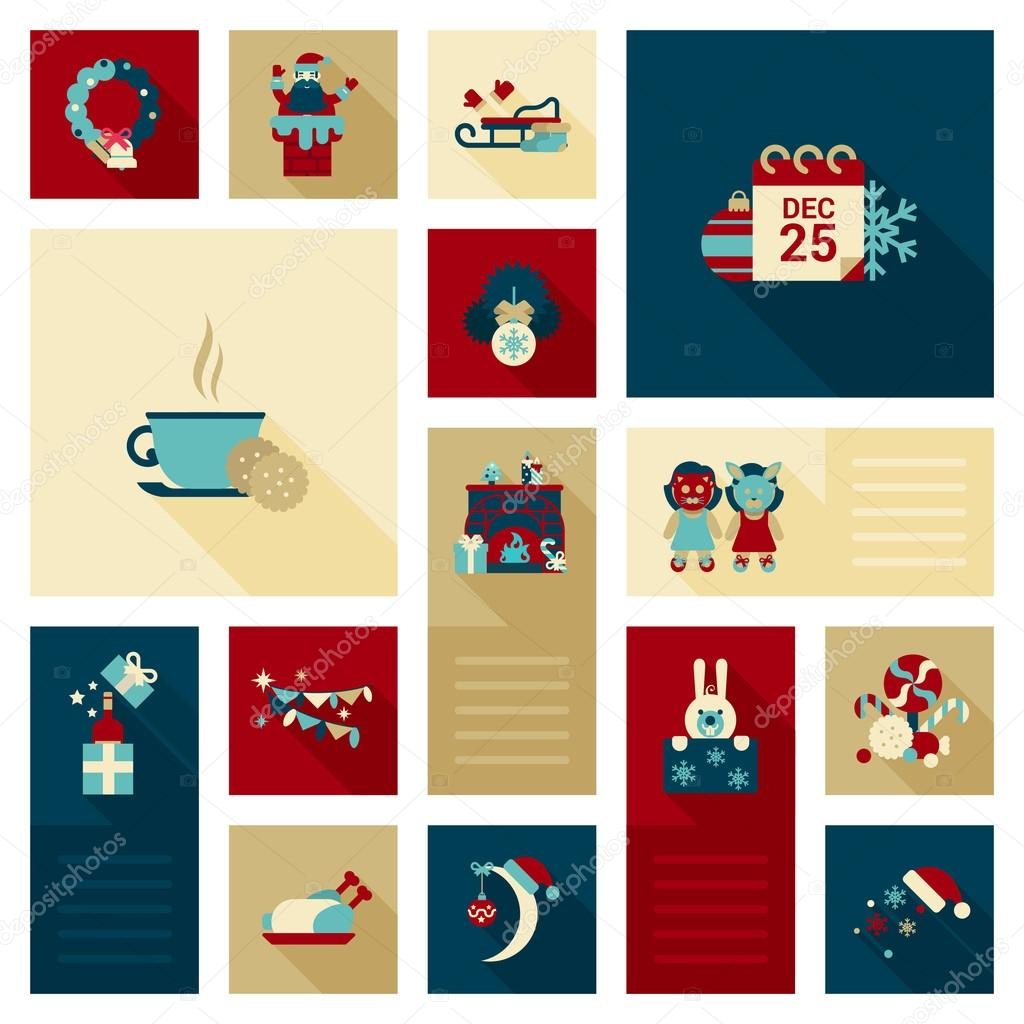 Holidays web icons collection.