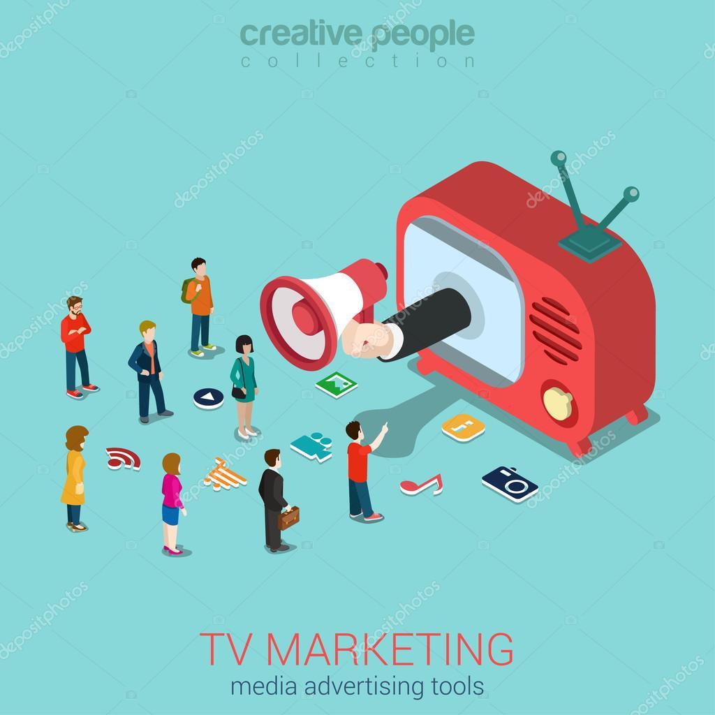 tv marketing advertisement shopping sale stock vector sentavio