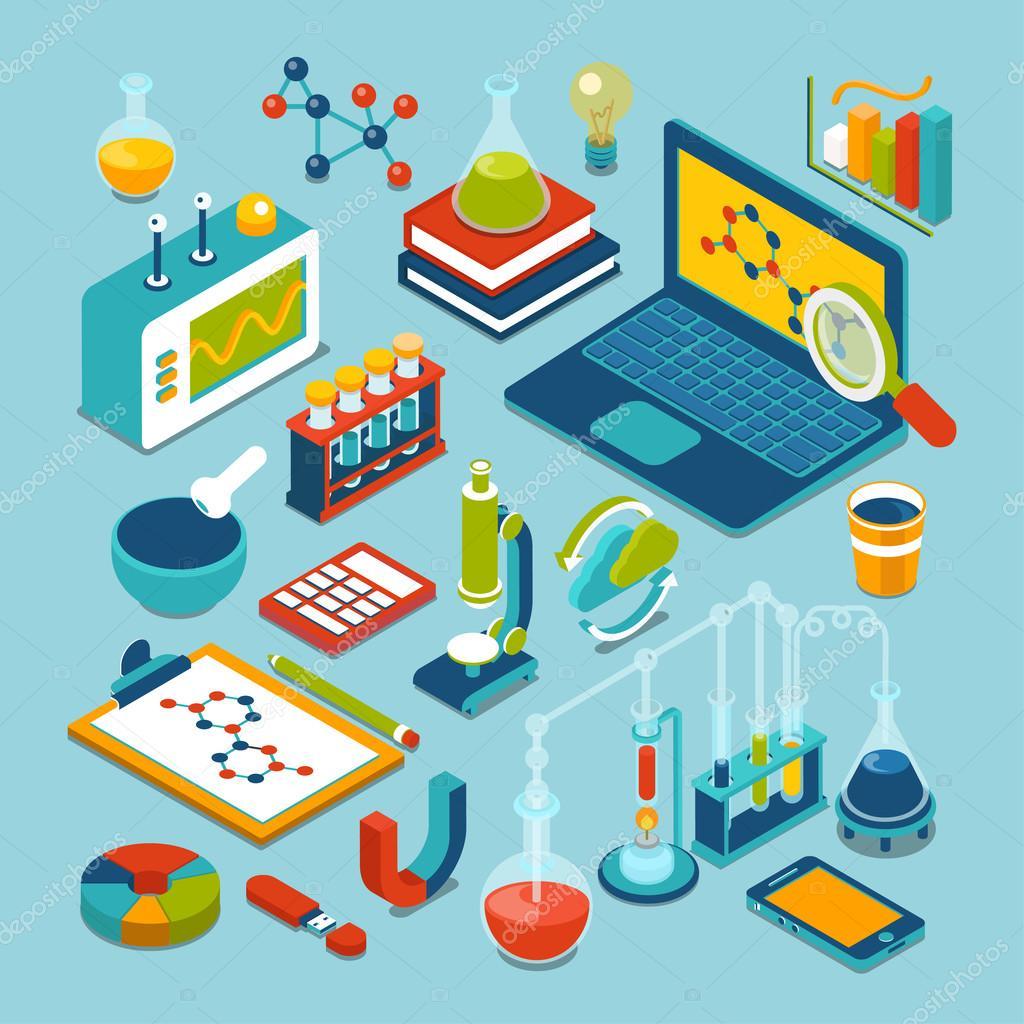 Objetos de tecnología de laboratorio de investigación de ciencia ...