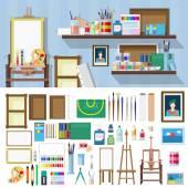 Ploché styl umělecké dílny ikony
