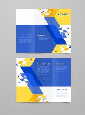 geometric leaflet brochure
