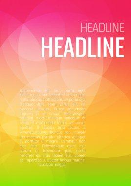 Stylish modern orange headline  brochure