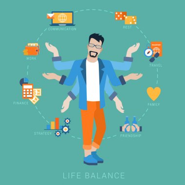 life balance abstract shiva lifestyle concept.