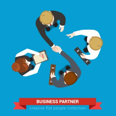 Business partner handshake