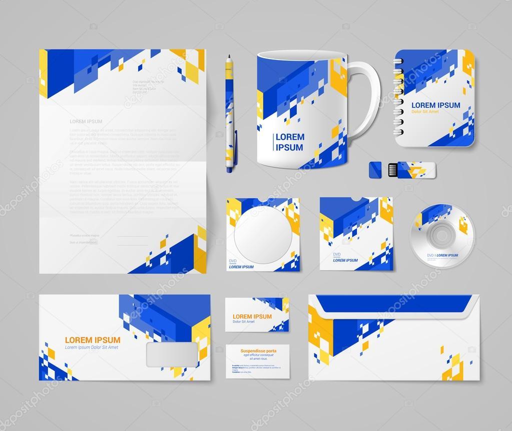 Moderne Corporate Identity Mockup — Stockvektor © Sentavio #83140134
