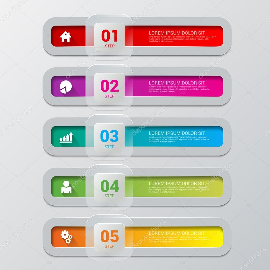 process steps labels infographics template stock vector