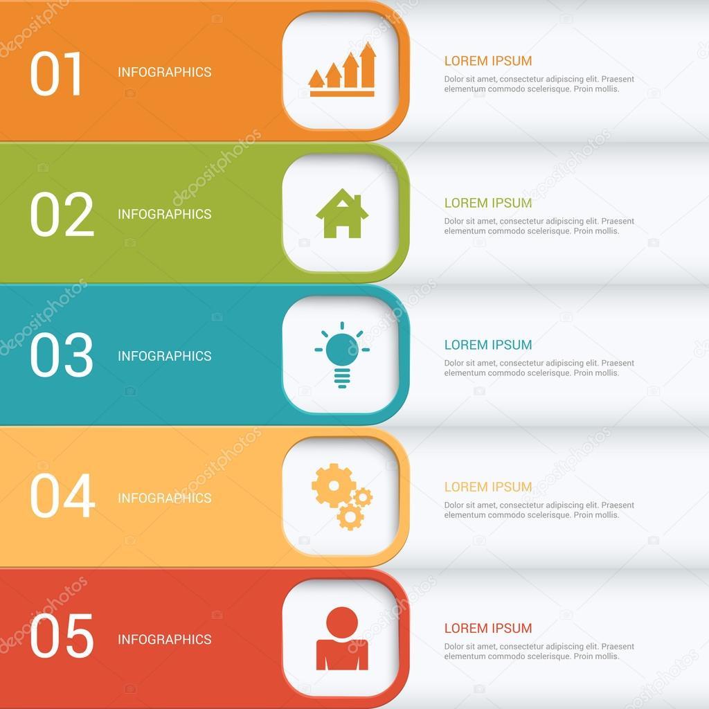 process steps labels infographics
