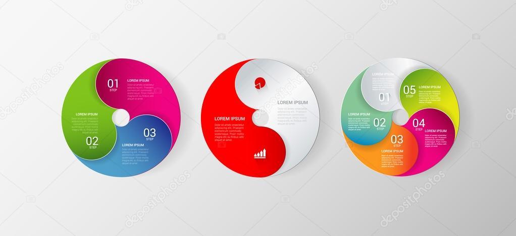 stylish multicolor circle infographics mockup