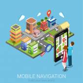 mobile Navigation Web-Infografik