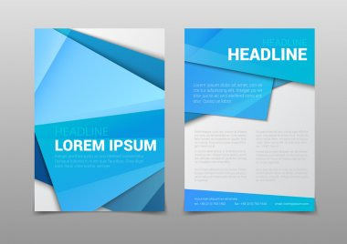 polygonal attractive cover headline