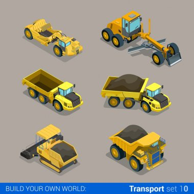 road construction icon set