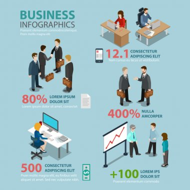 Business situations  infographics concept