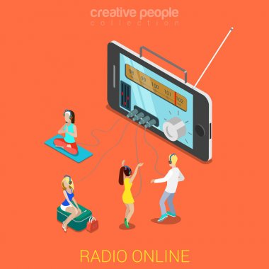 Huge smartphone and micro people