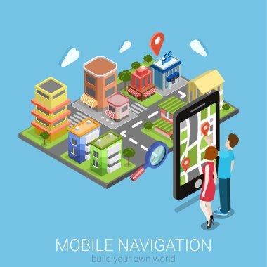 """Картина, постер, плакат, фотообои """"мобильной навигации веб-инфографика"""", артикул 90652480"""
