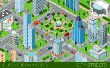 streets transport blocks concept.