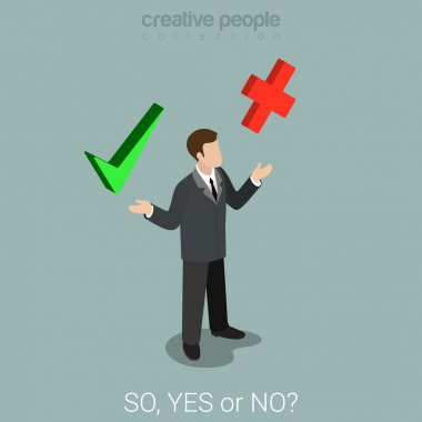 yes or no choice business concept