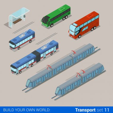 railroad and city transport infographic set.
