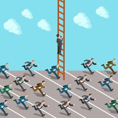 Businessmen crowd race