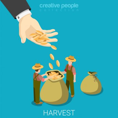 Big hand gives seed to farmers