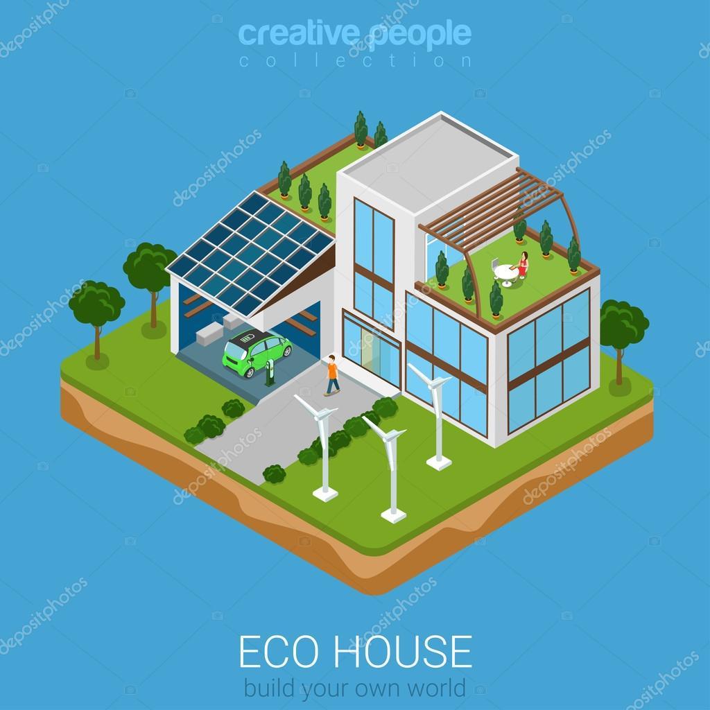 eco friendly house concept.