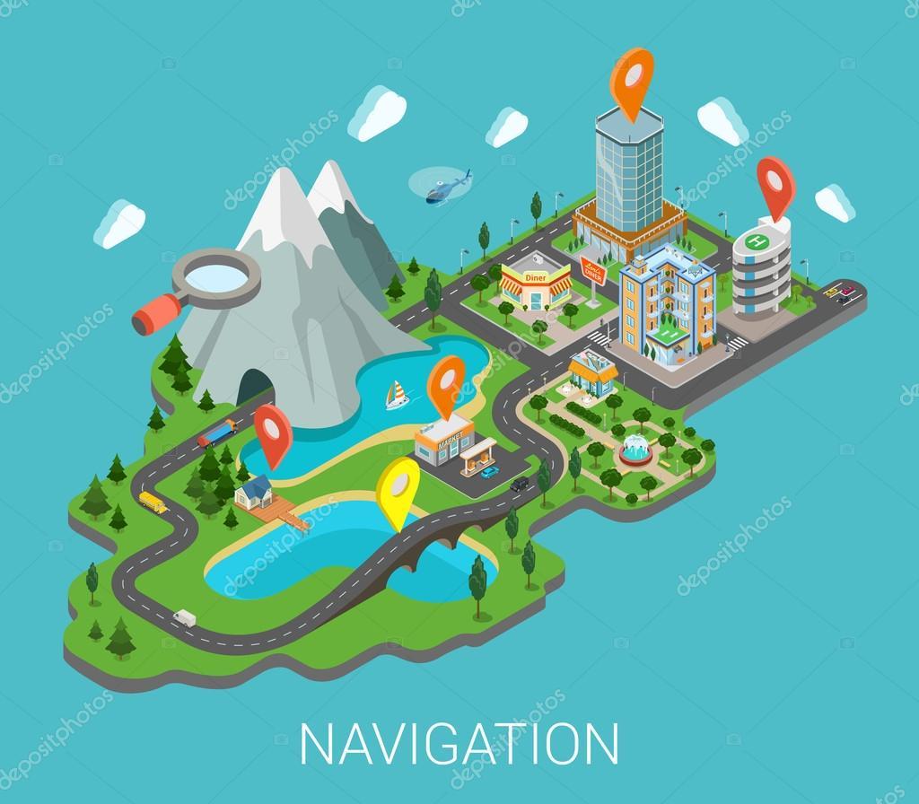 mobile GPS navigation app