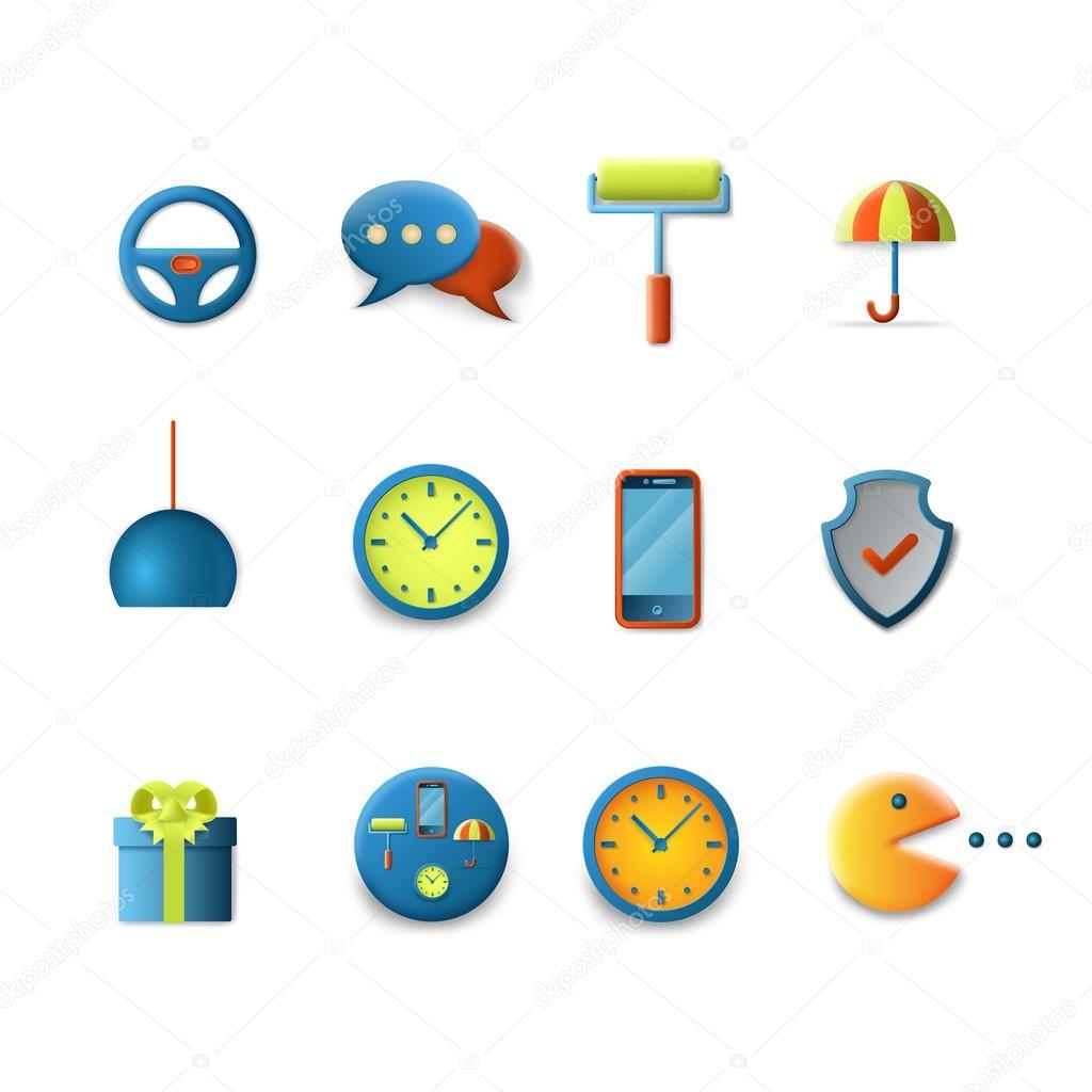 Smooth Technology Icons Stock Vector Sentavio 90652894